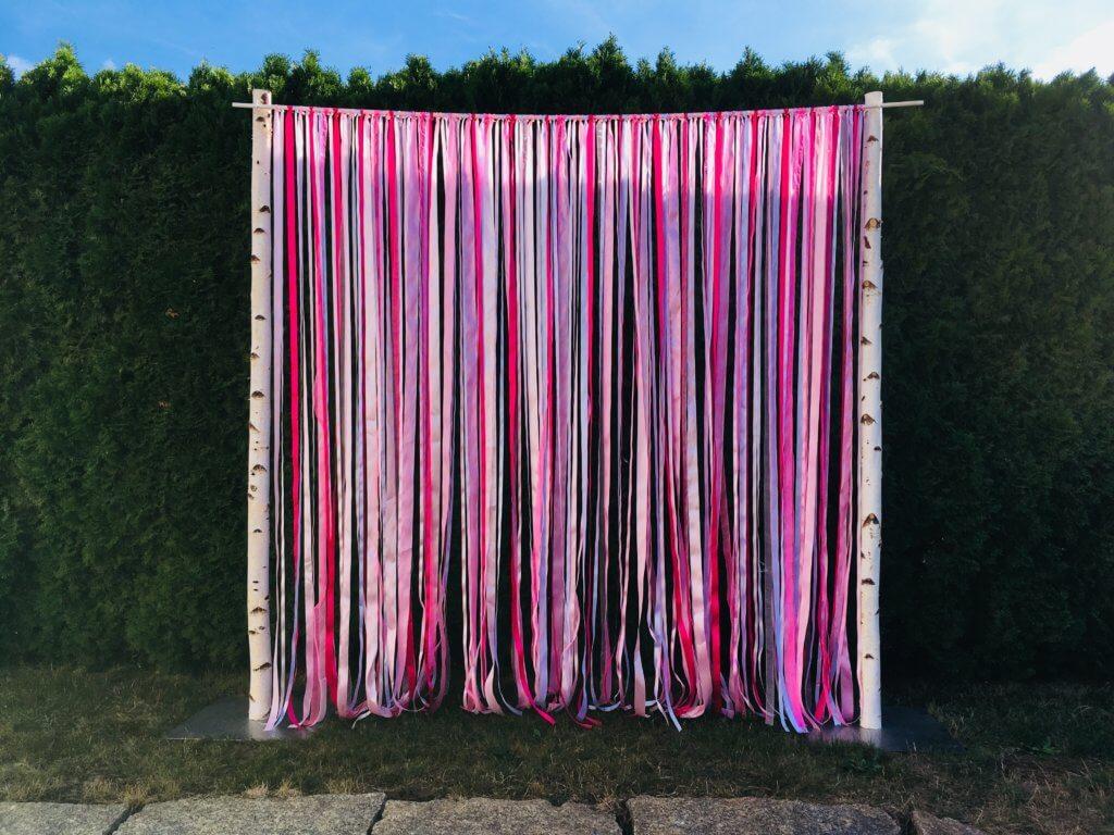Hintergrund für Trauung, Fotobox, Candybar...