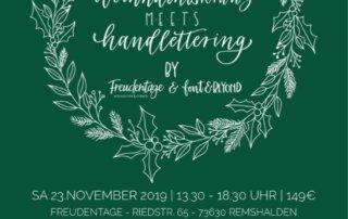 Weihnachtsworkshop, Weihnachtskranz, Handlettering